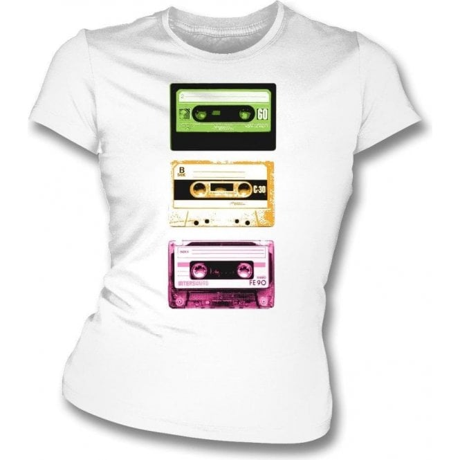 Cassette Tapes Womens Slim Fit T-Shirt