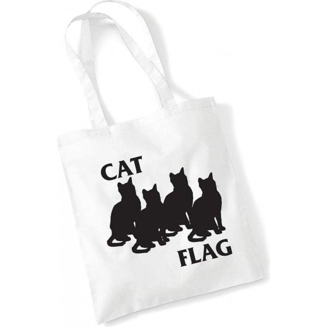 Cat Flag Long Handled Tote Bag
