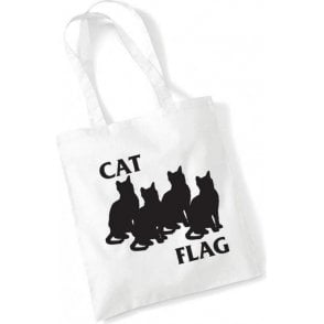 Cat Flag Long Handled Tote Bag