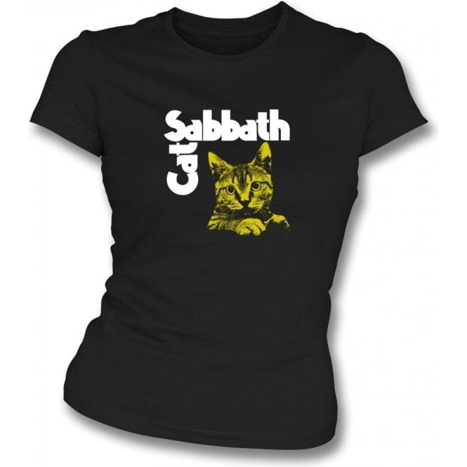Cat Sabbath Womens Slim Fit T-Shirt