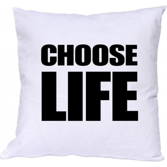 Choose Life (As Worn By George Michael & Andrew Ridgeley, Wham!) Cushion