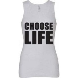 Choose Life (As Worn By George Michael & Andrew Ridgeley, Wham!) Women's Baby Rib Tank Top