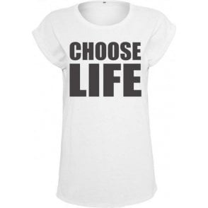 Choose Life (As Worn By George Michael & Andrew Ridgeley, Wham!) Women's Extended Shoulder T-Shirt