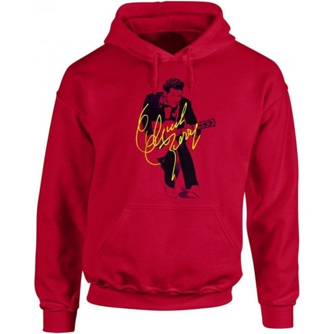 Chuck Berry Autograph Photo (As Worn By Marc Bolan, T. Rex) Hooded Sweatshirt