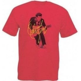Chuck Berry Autograph Photo (As Worn By Marc Bolan, T. Rex) Vintage Wash T-Shirt