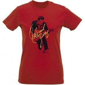 Chuck Berry Autograph Photo (As Worn By Marc Bolan, T. Rex) Womens Slim Fit T-Shirt
