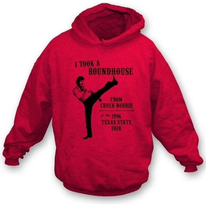 Chuck Norris Roundhouse Kick Hooded Sweatshirt
