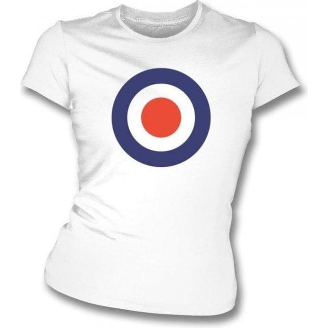 Classic Mod Target Womens Slim-Fit T-shirt