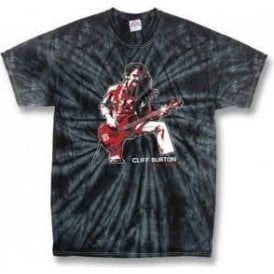 Cliff Burton (Metallica) Tribute Black Tie Dye T-shirt
