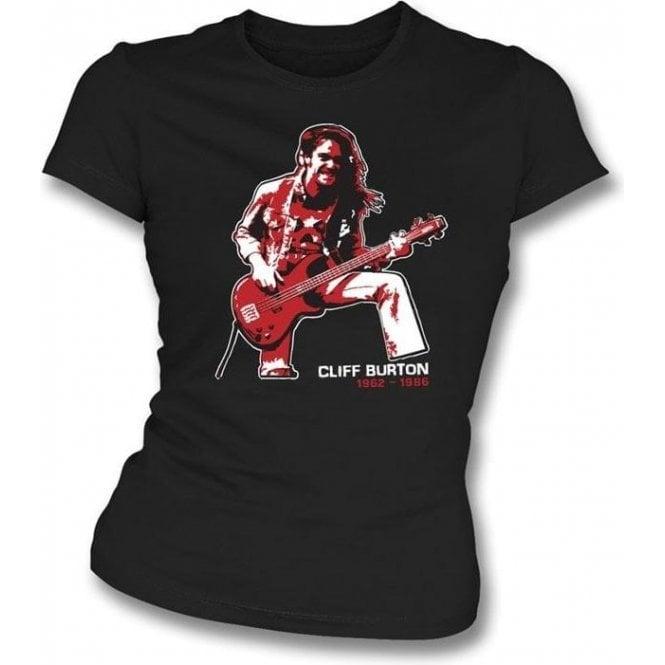 Cliff Burton (Metallica) Tribute Womens Slimfit T-shirt