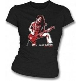 Cliff Burton (Metallica) Tribute Womens Slimfit T-shirt
