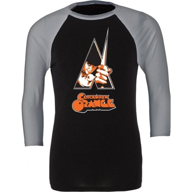 Clockwork Orange Poster 3/4 Sleeve Unisex Baseball Top