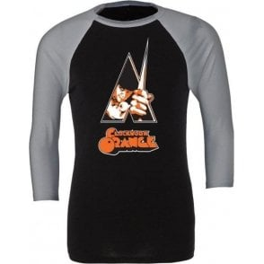 Clockwork Orange Poster 3/4 Sleeve Unisex Baseball Top
