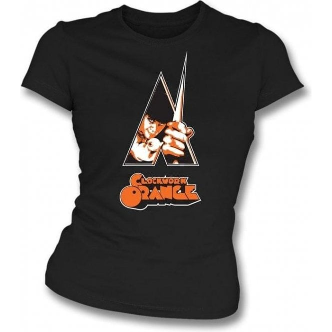 Clockwork Orange Poster Womens Slimfit T-shirt