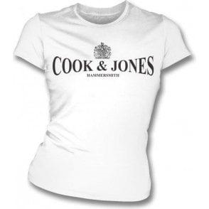 Cook & Jones - Hammersmith (As Worn By Steve Jones, Sex Pistols) Womens Slim Fit T-Shirt