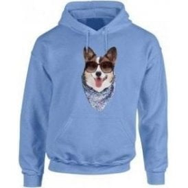 Corgi Face Hooded Sweatshirt