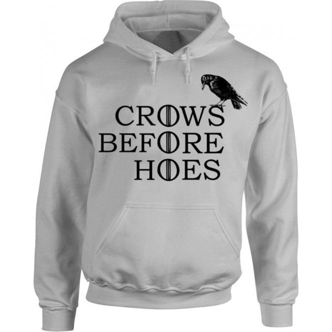 Crows Before Hoes Hooded Sweatshirt