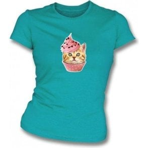 Cupcake Cat Womens Slimfit