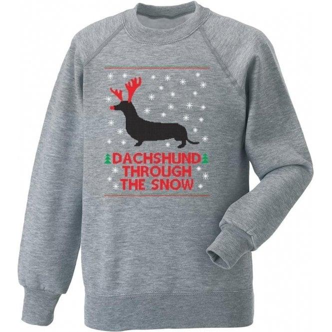 Dachshund Through The Snow Sweatshirt