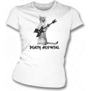 Death Meowtal Womens Slim Fit T-Shirt