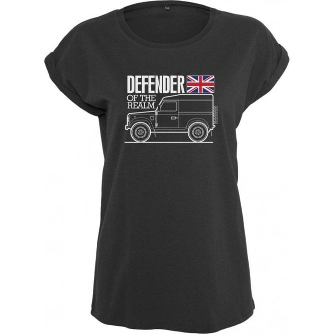 Defender Of The Realm (Land Rover) Womens Extended Shoulder T-Shirt