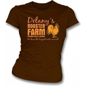 Delany's Rooster Farm Womens slimfit t-shirt