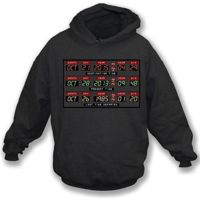 DeLorean Dash (Inspired by Back To The Future) Kids Hooded Sweatshirt