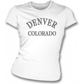 Denver, Colorado (as worn by Dee Dee Ramone) Womens slimfit t-shirt