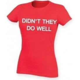 Didn't They Do Well (As Worn By David Gilmour, Pink Floyd) Womens Slim Fit T-Shirt