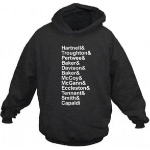 Dr Who Names Hooded Sweatshirt