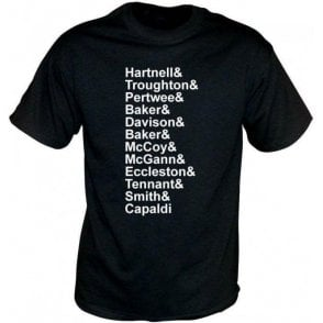 Dr Who Names T-Shirt
