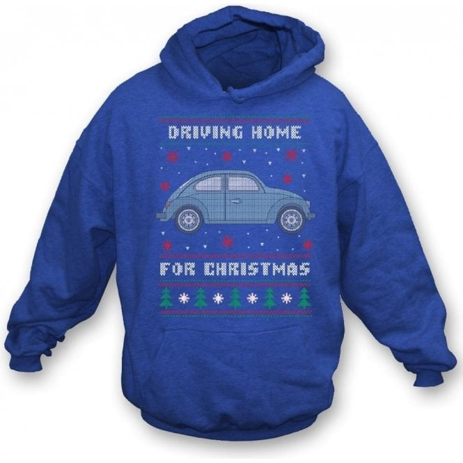 Driving Home For Christmas (VW Beetle) Hooded Sweatshirt