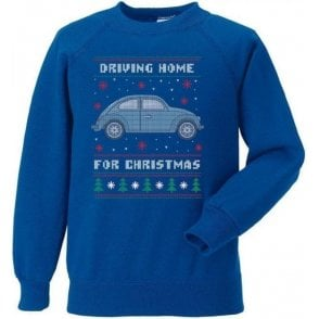 Driving Home For Christmas (VW Beetle) Kids Sweatshirt