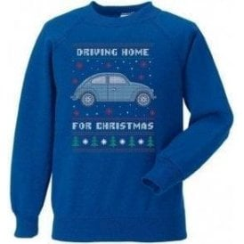 Driving Home For Christmas (VW Beetle) Kids Jumper
