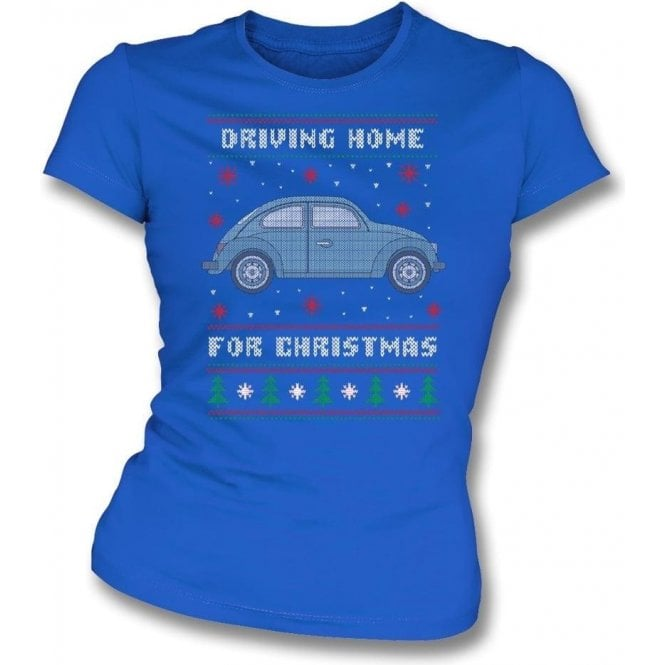 Driving Home For Christmas (VW Beetle) Womens Slim Fit T-Shirt