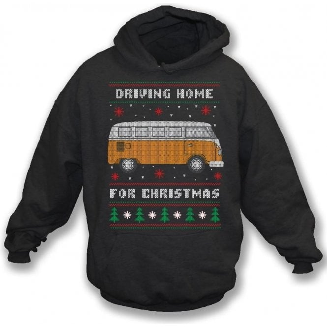 Driving Home For Christmas (VW Camper) Hooded Sweatshirt