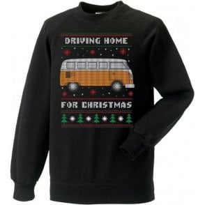 Driving Home For Christmas (VW Camper) Kids Sweatshirt