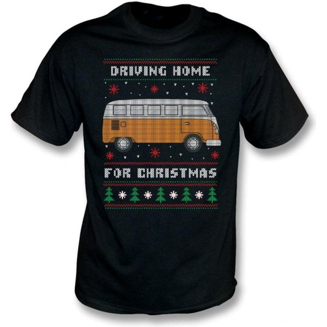 Driving Home For Christmas (VW Camper) Kids T-Shirt
