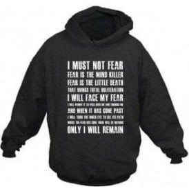 Dune 'Fear Is The Mind Killer' Movie Slogan Hooded Sweatshirt