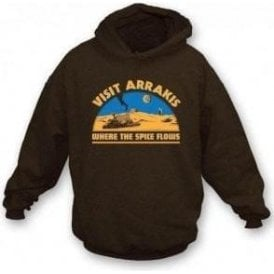 Dune Visit Arrakis 'Where the Spice Flows' Hooded Sweatshirt
