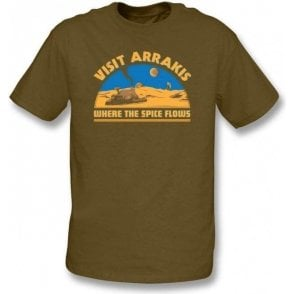 Dune Visit Arrakis 'Where the Spice Flows' T-Shirt