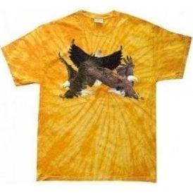 Eagle Collage Tie Dye T-Shirt