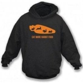 Eat More Rabbit Food Kids Hooded Sweatshirt