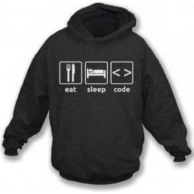 Eat Sleep Code Hooded Sweatshirt