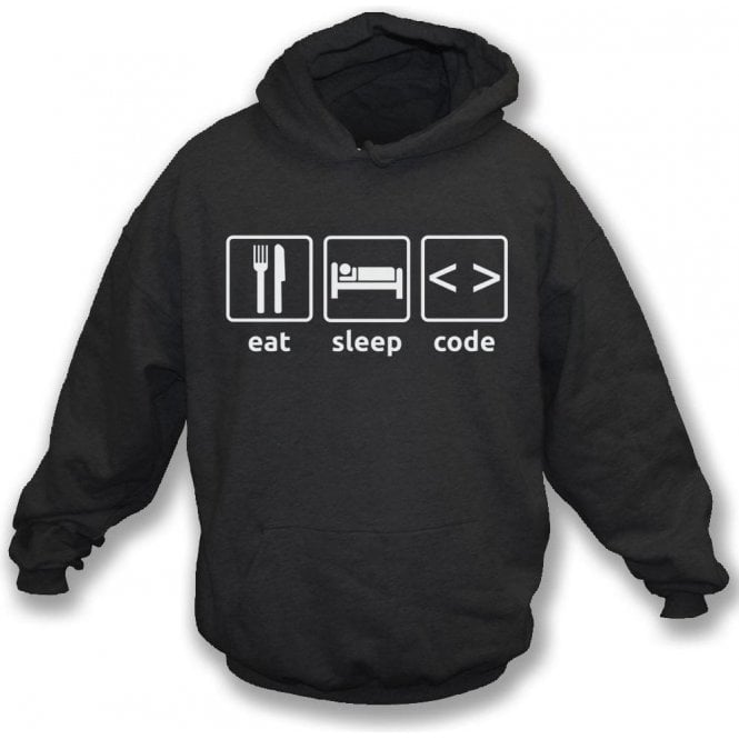 Eat Sleep Code Kids Hooded Sweatshirt