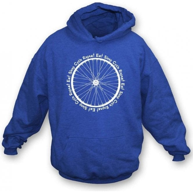 Eat Sleep Cycle Repeat Hooded Sweatshirt