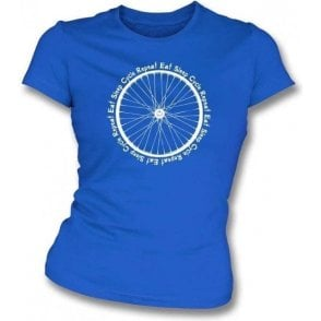 Eat Sleep Cycle Repeat Womens Slim Fit T-Shirt