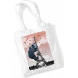 Eiffel Bear Long Handled Tote Bag