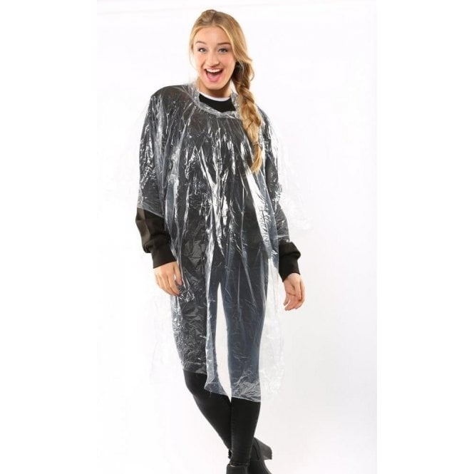 Emergency Hooded Plastic Poncho