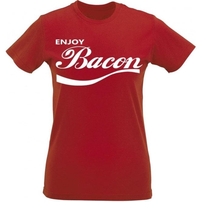 Enjoy Bacon Womens Slim Fit T-Shirt